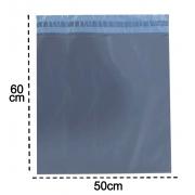 100 Envelopes De Segurança 50x60  Cinza Embalagem Correios