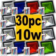 30x Refletor Holofote Super Led RGB 10W