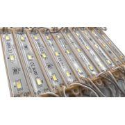 20x Módulos 3 Leds 5730 SMD Branco Super Frio (11.000k) 12V
