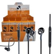 Kit 25 Fone Ouvido Microfone P3 3.5mm + Expositor Atacado