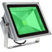 Refletor Holofote Super Led Verde 50W