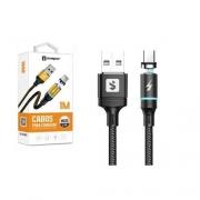 Cabo Micro USB V8 Magnético 2.4A 1m SX-B16V8 - Sumexr