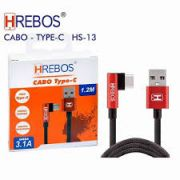 Cabo Tecido 1.2M - 3.1A Plug Lateral Tipo C HS-13