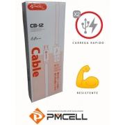CABO USB FLAT CB12 V8 1m