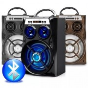 Caixa De Som Amplificada Usb Mp3 Radio Fm A-28 -ALTOMEX