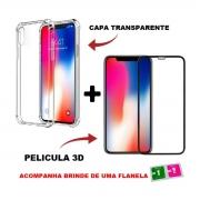 Capa Case Capinha Compatível Iphone X + Pelicula 3d