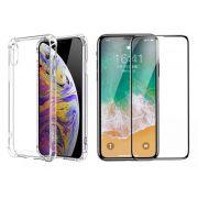 Capinha Anti-Shock + Película 5D Vidro Iphone 6 7 8 Plus X Xs Xr Xs Max