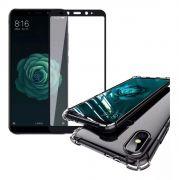 Capinha Anti-Shock + Película 5D Vidro Xiaomi Mi A2 Lite