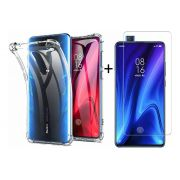 Capinha Anti-Shock + Película Vidro Temperado Xiaomi Mi 9T, Mi 9T Pro, Mi K20, Mi K20 Pro