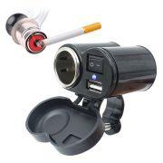 Carregador de Celular Gps Acendedor Cigarro Para Moto