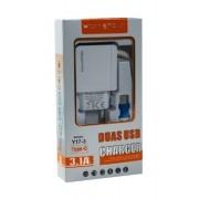 CARREGADOR MICRO USB V8 FAST CHARGER 3.1A - Y17-1 -  H'MASTON