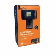 Carregador Turbo + Cabo USB V8 2A* - 3.1A - INOVA CAR-9001