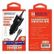 Carregador Turbo Qualcomm 4.0 c/ V8 HS86 - HREBOS