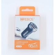 Carregador Veicular Dual USB 3.1A PRETO HS182 - HREBOS