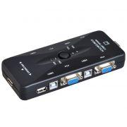 Chaveador KVM (VGA+USB) 4 Portas