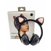 Fone de Ouvido Orelhas de gato Bluetooh - ZW-19