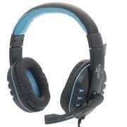 Fone Ouvido c/ Microfone Gamer K4 Azul