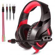 Fone Ouvido Headset Gamer K1B Red Led Onikuma