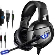Fone Ouvido Headset Gamer K5 Blue Led Onikuma