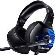 Fone Ouvido Headset Gamer K6 Blue Led Onikuma