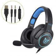 Fone Ouvido Headset Gamer K9 Azul Microfone Retrátil Onikuma