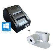 IMPRESSORA TÉRMICA 57MM - OLETECH OT100 SLIM USB + (10unidades) BOBINA PAPÉL TÉRMICO 57X30