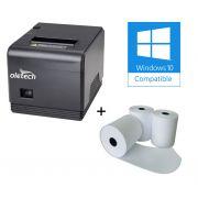 Impressora Térmica USB 80mm Oletech OT450 (guilhotina) + 10 Unidades Bobina Termica 80X30