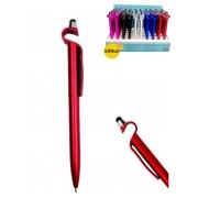 Kit 100 Caneta Touch Pen Suporte Celular + Expositor Atacado