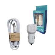 kit 5 Carregador Automotivo Usb 2.1a Car-2049d Micro Usb/v8 - INOVA
