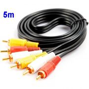 Kit Cabo Audio/Video Macho (RCA, AV) 5m + Cabo Auxiliar P2 3,5mm Macho 5m
