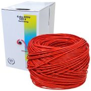 Kit Cabo Rede Cat6 305m + 300 Conectores RJ45 Cat6 Oletech