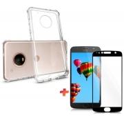 Kit Capa Capinha Premium + Película 5D Motorola G5 G5s Plus