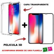 Kit Capinha + Pelicula Compatível iPhone 13 / 12 / 11 Todos Modelos