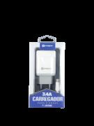 KIT CARREGADOR USB SUMEXR 3.4A 5V COM CABO PARA IOS - SX-201-I6