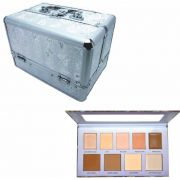 Kit Maleta Prata + Paleta Ruby Rose Perfect Me Iluminador Contorno HB 7509/L