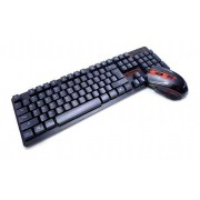 Kit Teclado E Mouse Gamer Sem Fio Wireless 2.4ghz T1000 - VERDE