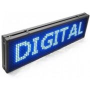 Letreiro Painel De Led USB 100 X 20 - AZUL - SL1021A
