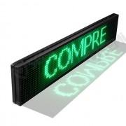 Letreiro Painel De Led USB 100 X 20 - VERDE- LK-G10020 LUATEK