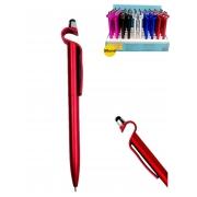 Lote 50 Caneta Touch Pen Suporte Celular + Expositor Atacado