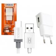 Lote 5 carregador USB 1,6A + Cabo Tipo C Atacado Revenda
