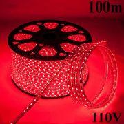 Mangueira led SMD 5050 Prova D´água 110V (5W, 60led/m) Vermelho (100m)