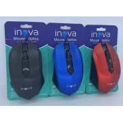 Mouse Ópticos Inova Com Fio Mou-6909