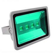 Refletor Holofote Super Led Verde 200W