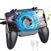 Suporte Cooler + Gatilho  All In One Gamepad Game Handle P/ Celular SR-2000