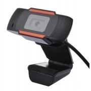 Webcam Full Hd 1080p Usb Mini Câmera De Computador - PRETA E LARANJA