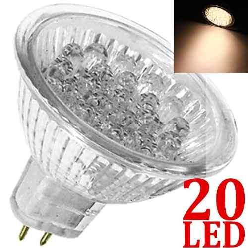 Kit 25 Lampada Dicróica 20 Led P/spot 110v Branco Morno Mr16