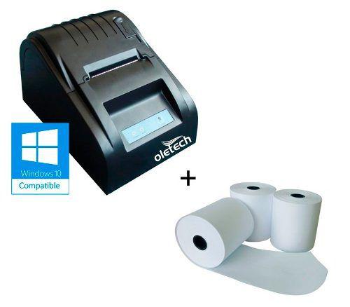 Impressora Termica Cupom Não Fiscal 58mm + 10uni Bobina Term