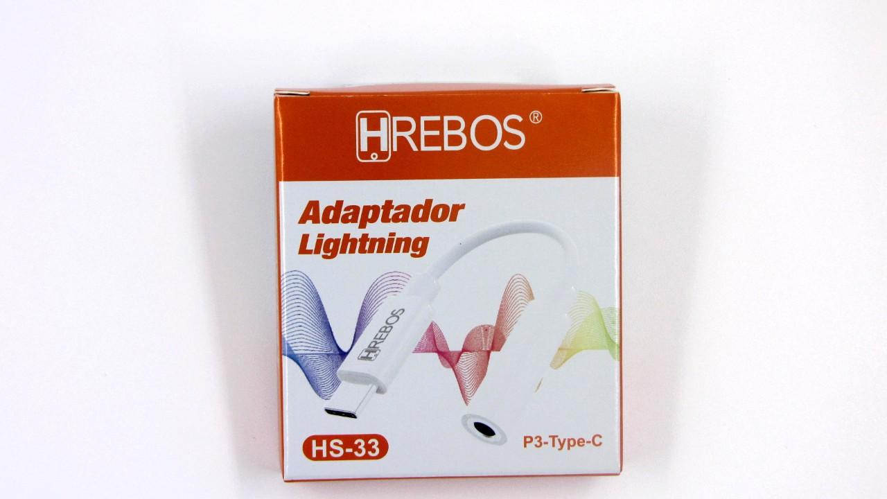 Adaptador de Audio TIPO C + P3 HS33 - HREBOS