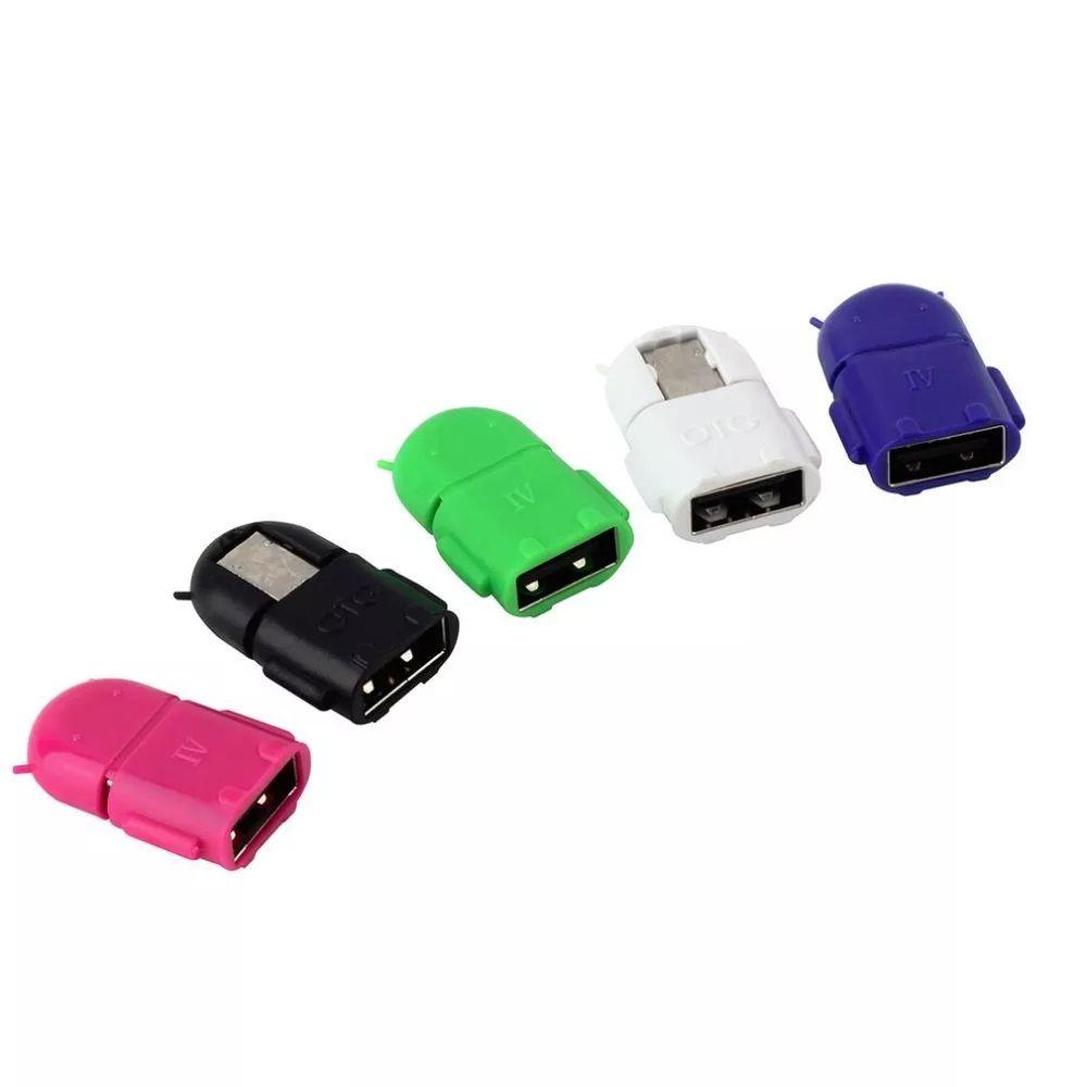Adaptador OTG USB Para Micro-USB V8 Android Várias Cores