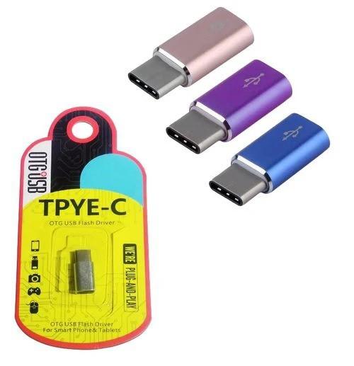 Adaptador OTG USB Para USB Tipo-C